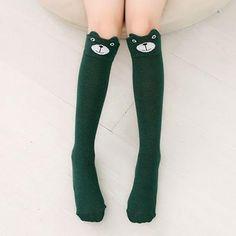 dacd517ed1 Cartoon Cute Children Stockings Print Animal Cotton Kids Girls Knee High  Long Fox Stockings Toddler Baby Tights Stockings