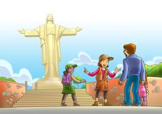 """Ilustrações para o livro """"Momentos com Deus"""" - Casa Publicadora Brasileira-CPB #mangastudio5ex #clipstudiopaint #digitalillustration #editorialillustration #casapublicadorabrasileira"""