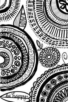 Doodle Sketch, Doodle Art, Susan Black, Black Art, Black And White, Doodles Zentangles, Surface Pattern Design, Art Sketchbook, Art Lessons