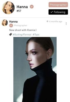 This is Hanna, a fashion photographer based in Shanghai.