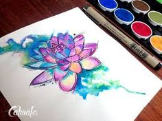 Image result for loto mandala watercolor tattoo designs