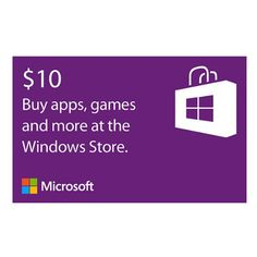 BUY NOW Microsoft Windows Store Gift Card $10 Value [Online Code] Microsoft Windows Store Gift Cards: With a Windows Store gift