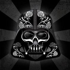 Dark Vader dia de los muertos