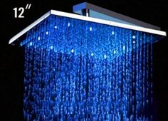 Showerhead with a multicolor LED.  For clubbing in your shower.  Alfi  #crazy