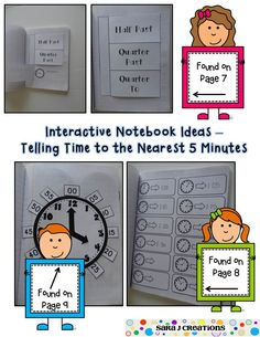 Interactive Math Notebook - Time and Money. Common Core aligned for second grade. 10 flap activities for teaching time and money. Perfect for interactive notebooks, math journals, or lapbooks. ****This item is off for the first 72 hours after posting**** Teaching Money, Teaching Time, Teaching Math, Maths, Interactive Math Journals, Math Notebooks, Second Grade Math, Grade 3, Homeschool Math