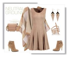 """Neutrals!"" by schneerose ❤ liked on Polyvore featuring MANGO, Halston Heritage, Michael Antonio, Valentino, Toolally and Arme De L'Amour"