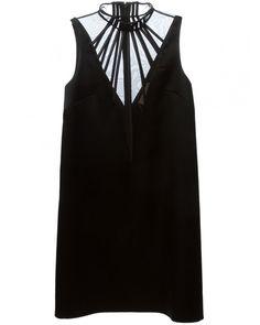 Christopher Kane Abstract Boning Black Dress