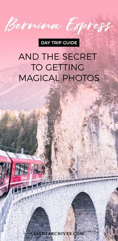 Bernine Express Day Trip Guide and the Secret to getting Magical Photos. Vacation Quotes, Travel Quotes, Travel Ideas, Travel Inspiration, Bernina Express, Amazing Places On Earth, France Travel, Wanderlust Travel, Day Trip