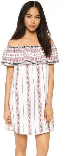 Glamorous Off Shoulder Tribal Mini Dress