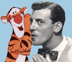Tigger and is orignal voice actor, the legendary Paul Winchell! Disney Cartoon Characters, Disney Movies, Fictional Characters, Paul Winchell, Disney Winnie The Pooh, Tigger Disney, Little Bit, Thanks For The Memories, Aristocats