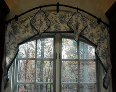 Arch Window Curtains To Choose Depend On What You Want To Achieve In The Room : Flexible Curtain Rod For Arched Window. Flexible curtain rod for arched window. Arched Window Coverings, Curtains For Arched Windows, Bay Window Curtains, Drapes And Blinds, Window Curtain Rods, Diy Curtains, Window Treatments Living Room, Living Room Windows, Curtain Inspiration