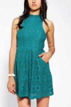 Kimchi Blue Jackie High-Neck Lace Dress