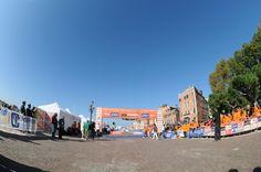 la zona d'arrivo di Venicemarathon