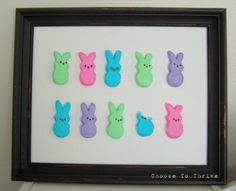Peeps artwork on Cool Mom Picks | What to do with all the Easter Peeps that find their way to my house