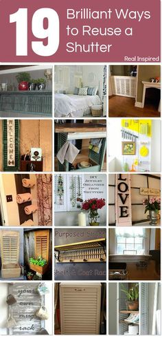 Brilliant ways to reuse a shutter