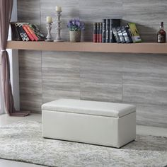 10 inches high x 13 inches wide x 32 inches long Royal Comfort White Multi Function Storage Ottoman . Get free shipping at Overstock.com - Your Online Furniture Outlet Store! Get 5% in rewards with Club O!