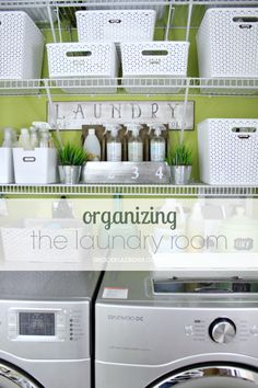 Great Tips for Organizing The Laundry Room - from Graceful Order!