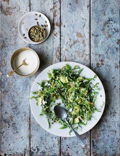 The white miso dressing works on most salads and is a great addition to roasted roots too. Veggie Recipes Healthy, Vegetarian Recipes, Anna Jones Recipes, Celery Recipes, Salad Recipes, Just Cooking, Side Salad, Easy Salads, No Cook Meals