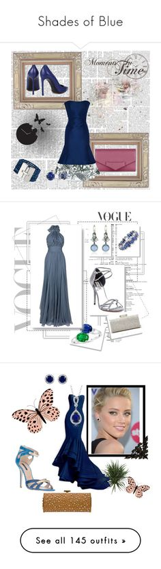 """Shades of Blue"" by miriam83 ❤ liked on Polyvore featuring Diamantini & Domeniconi, Nicki Minaj, Ivanka Trump, Kekkilä, OKA, Glo Minerals, Pier 1 Imports, WALL, Nicole and Matthew Williamson"