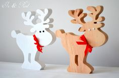 Wooden Christmas decorations.