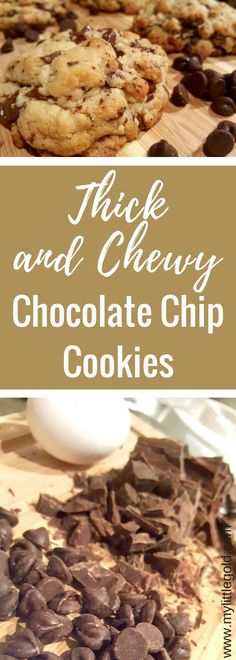 The Best Soft Chocolate Chip Cookies You'll Ever Have – My Little Gold No Bake Cookies, Cookies Et Biscuits, Baking Cookies, Easy Desserts, Delicious Desserts, Yummy Food, Tasty, Mini Desserts, Yummy Eats