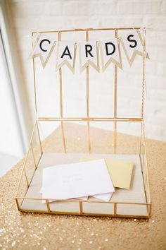 Display a box for wedding cards at your reception.