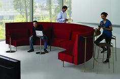 Reveal seating with Mid Back curved shelf by Martin Brattrud.