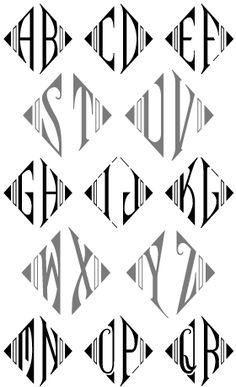 Art deco monograms
