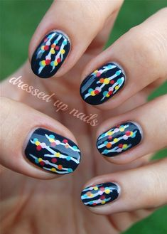 Spring Manicures Nail Treatments Dressed up Nails  To see more Magnificent Manicures, especially Holiday Manicures: http://stillblondeafteralltheseyears.com/2013/04/spring-manicures-6-spring-nail-treatments/  #Manicures #HolidayManicures #HolidayNails