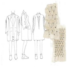 Fashion Sketchbook - fashion design drawings & smocking samples; fashion portfolio // Faiza Matovu