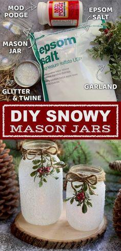 A fun, easy and beautiful holiday craft project for adults. #masonjar #masonjars