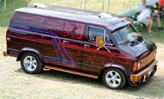 Vintage Custom Vans You'll Want - Fosil Fueled Customised Vans, Custom Vans, Camper, Station Wagon, Caravan, Volkswagen, Old School Vans, High School, Dodge Van