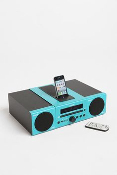 Pure awesome. Yamaha MCR-040 Micro System MP3 Speaker Dock - Turquoise
