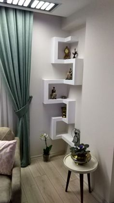 3 aylık evliyim evimi yorumlamanizi bekliyorum… I'm married for 3 months and I'm waiting for you to interpret my house … Living Room Partition, Room Partition Designs, Home Room Design, Home Interior Design, Kitchen Interior, Home Decor Furniture, Furniture Design, Corner Shelf Design, Corner Shelving