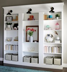 Build this diy library wall for less than 600 library wall ikea custom built in billy bookcase library remingtonavenue solutioingenieria Image collections