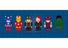 (10) Name: 'Embroidery : Avengers Cross Stitch Pattern
