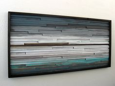 Rustic Modern Wood Sculpture  Distressed  Wall by ModernRusticArt, $575.00
