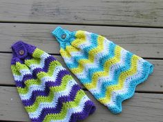 Cats-Rockin-Crochet, Free Crochet and Knit Patterns: Great for Gifts! Crochet A Chevron Kitchen Towel