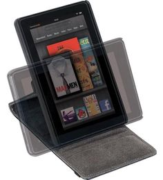 Targus Black Faux Leather Versavu Rotating Stand and Case For The Kindle Fire - THZ169EU Also available for iPad
