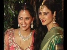Rekha | AHANA DEOL'S WEDDING RECEPTION.