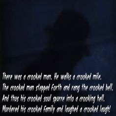 The Crooked Man - https://legacyofhorror.org/2016/06/the-crooked-man/