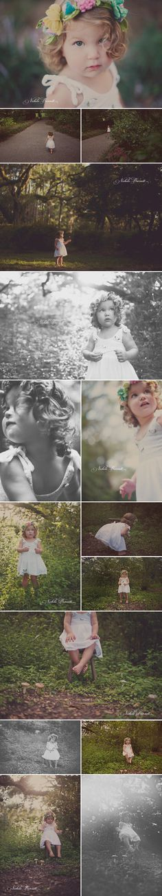 OMG! Mushrooms and whimsical child portraits! // Santa Rosa Beach, Florida Photographer ©Nichole Burnett Photography