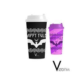 Happy Yule Coffee Mug Gothic Bat Black Dark Occult Goth