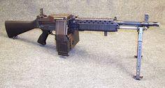 Stoner 63A weapon in Commando light machine gun configuration.