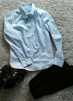 Kup mój przedmiot na #vintedpl http://www.vinted.pl/damska-odziez/koszule/16119684-koszula-w-malutkie-niebiesko-biale-paseczki
