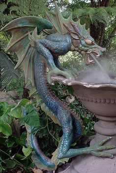 dragon fountain.                                                                                                                                                      More
