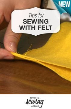 Tips and inspiration for sewing with felt >> www.nationalsewingcircle.com/video/felt-tips