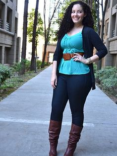 Casual Outfits for Plus Size Women-14 Funky Curvy Women Style ...