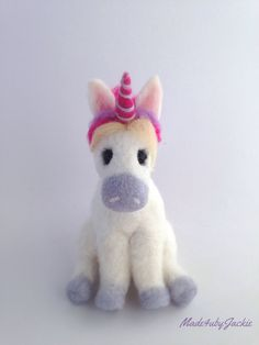 Excited to share the latest addition to my shop: Needle Felted Unicorn - felt unicorn - Felted unicorn - felted animal - Needed felted animals - miniature Unicorn - Gift for her - OOAK Felted Wool Crafts, Felt Crafts, Crafts To Make, Needle Felted Animals, Felt Animals, Needle Felting, Unicorn Gifts, Felt Diy, Wool Felt
