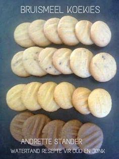 Suid Afrikaanse koekies Easy Cookie Recipes, Sweet Recipes, Cake Recipes, Dessert Recipes, Cookie Desserts, Biscuit Bar, Biscuit Recipe, Biscuit Cookies, Kos